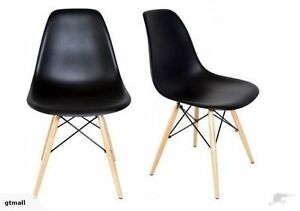 New Set of two of Replica Cafe Dinner Side Chair BlaCK