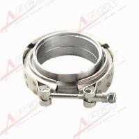 "3"" Self Aligning Male/Female V-Band Vband Clamp CNC Mild Steel Flange Kit"