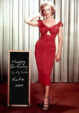 Personalised Marilyn Monroe Birthday Card