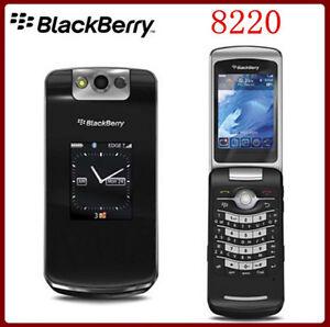 Black Original (Unlocked) Blackberry Pearl 8220 Flip Mobile Phone 2G Cellphone