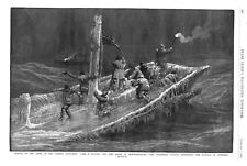 """Rescue of Crew of the Fishing Schooner """"Carl W. Baxter"""" off Newfoundland - 1885"""
