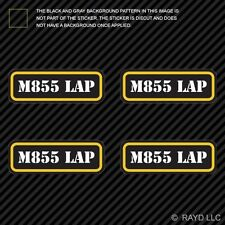 (4x) M855 LAP Ammo Can Sticker Set Decal Self Adhesive molon labe bullet type 2