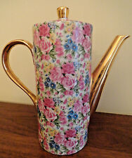 Royal Crown CHINTZ Sussex Bouquet  Pink Roses Floral Teapot Gold Trim Numbered