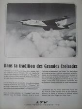 12/1964 PUB LTV VOUGHT CRUSADER AERONAVALE MARINE NATIONALE ORIGINAL FRENCH AD