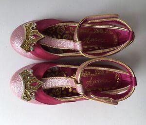 Kids Aurora Sleeping Beauty Pink Dress up Shoes Size 9-10 EU 27-28 Disney Store
