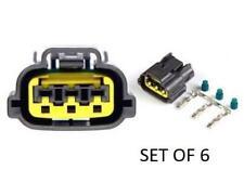 3 Pin Coil Connector OEM Fits Nissan Late SR20 RB25 RB26DETT GT-R R35 (Set 6)