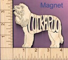 Cockapoo Dog laser cut and engraved wood Magnet Great Gift Idea