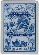 Playing Cards 1 Swap Card Antique Wide SPORT OUTFITTERS Bicycle Car GOLF CRICKET