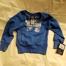 NWT NHL New York Islanders Youth GirlsPullover Blue Sparkle Sweat Shirt