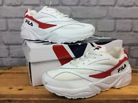 FILA LADIES UK 5 1/2 EU 39 VENOM 94 LOW WHITE AND RED TRAINERS LD
