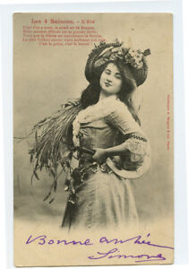 c 1904 Fashion Glamour LOVELY YOUNG LADY early undivided back photo postcard