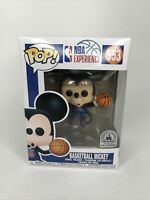 Funko Pop NBA Experience Basketball Mickey #553 Disney Parks Exclusive