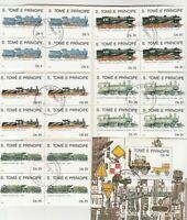 Eisenbahn S.Tome E.Principe gestempelt  hoher Katalogwert 50,50E 40