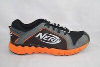 JUNIOR  REEBOK NERF VIBE RUNNING SHOE J83368 BLACK GREY ORANGE STEEL