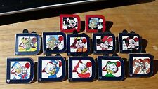 WDW 40th Anniversary Disney D Pin set with 2 red completers