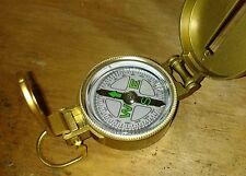 ENGINEER METAL COMPASS LIQUID FILLED NAUTICAL NAVIGATION MAP WHITE DIAL GOLD !!!