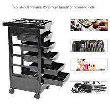 5 Tiers Beauty Salon Spa Styling Station Trolley Equipment Rolling Storag Cart