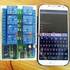 Relé de 8 canales 12V Bluetooth Android móvil A Control Remoto Interruptor de Motor de luz