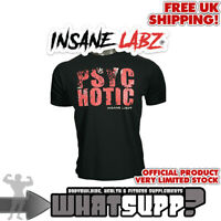 INSANE LABZ Psychotic Grunge Logo OFFICIAL T-SHIRT Black Bodybuilding top MEDIUM
