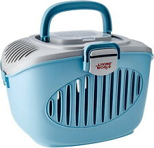 More details for living world paws2go blue small animal transport carrier travel small pet travel