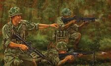 Wall Decor,Art Canvas Print Oil Painting Vietnam War, battle, jungle 16x24