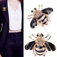 1 Stk. Damen Biene Kristall Strass Pin Brosche Modeschmuck Accessoire GUT