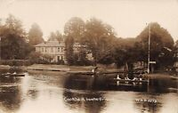 POSTCARD BERKSHIRE - COOKHAM - FROM THE BRIDGE - BOATING -  RP -  CIRCA 1916