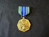 Military Medal With Ribbon For Military Achievement Green Blue White