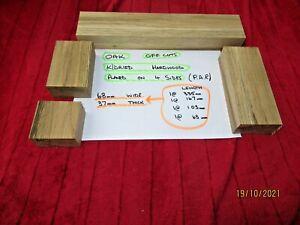 99p job lot off cuts Solid Oak Hardwood Timber Blocks. Crafts & Arts .Blanks