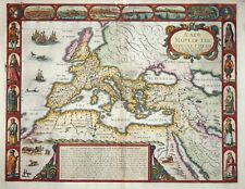 A NEW MAPPE OF THE ROMANE EMPIRE BY JOHN SPEED, 1676.
