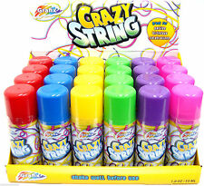 6 x Silly Strings Can Mixed Colors Party Crazy Colorful Spray Streamers String