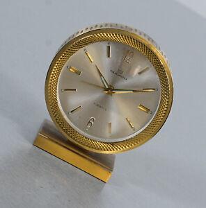 Ducado Messing Tischuhr Wecker Reiseuhr Schreibtischuhr 7 Jewels Vintage 60er J.
