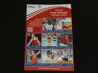 Team Kellogg's 2012 USA Olympics Cereal Box Athlete Cards - London Summer Games
