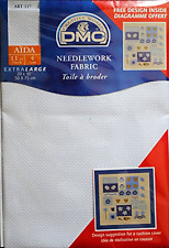 """DMC il cucito in tessuto AIDA Blanc 11ct 20"""" x 30"""" 50cm x 75cm-GRATIS UK P & P"""