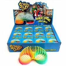 Giant Magic Rainbow Spring Slinky Coloured Retro Stretchy Magic Toy Bouncing