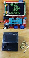 Assembled Transistor Tester LCR Diode Capacitance ESR meter Generator+ case