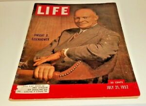 July 21, 1952 LIFE Magazine Historical 50s Advertising ads FREE SHIP 7  ADLAI