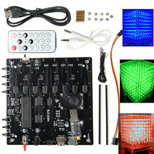 8x8x8 LED Cube 3D Light Square Red Green Blue Electronic DIY Kit Music Spectrum