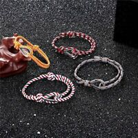 Nautical Survival Paracord Rope Chain Bracelet For Men Women Wristband Jewelry