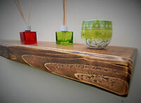 3 INCHES THICK  FLOATING SHELF MANTEL RUSTIC RECLAIMED WOODEN STORAGE SHELVES