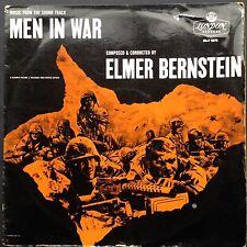 UK issue! Elmer Bernstein MEN IN WAR soundtrack LP 1957 Robert Ryan Anthony Mann