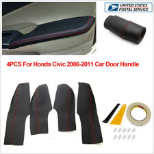For Honda Civic 8th Gen 2006-2011 Leather 4 Door Handle Panel Armrest Cover Trim