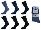 6 42 Paire De Chaussettes Pour Hommes 100% Coton Couleur Au Choix Noir Jeans