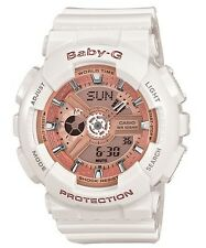 Casio Baby-G * BA110-7A1 Anadigi Gloss White & Rose Gold Women COD PayPal