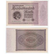 1923 Alemania - 100,000 Marca Billete-P83a-Unc
