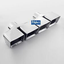 """2.5"""" exhaust tips quad square rectangle stagger for Dodge Challenger R/T 5.7L"""