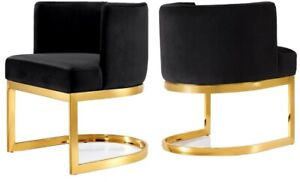 Dinning Room Chairs Set Of 2 Or More Velvet Round Chair Gold Legs