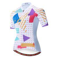 Geometry Women Cycling Jersey Road Bike Bicycle Jersey COOLMAX Cycling Top