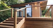STOMHAUS LOG CABIN/GARDEN OFFICE/STUDIO/GRANNY ANNEX-PRICE IS PER SQ.M INSTALLED