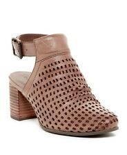 NEW Chocolat Blu Hazel Laser Cut Out Sandal Taupe Leather 8.5
